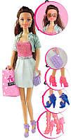 Набор с куклой Ася Я люблю обувь 28 см.шатенка в платье (35083)