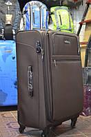 Большой коричневый чемодан Leaves King