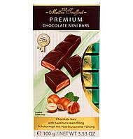 Молочный шоколад с ореховым кремом Maitre Truffout Premium, 8 х 12,5 г.