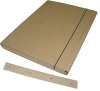 Папка коробка АРХИВНАЯ 40мм, 320*240, с планками для подшивки документов, на резинке