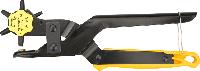 Дырокол револьверный для кожи Topex 240 мм: диаметр 2, 2.5, 3, 3.5, 4, 4.5 мм, углеродистая сталь