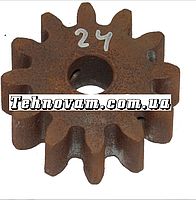 Шестерня бетономешалки 12 зубов (17*68 h24), штифт