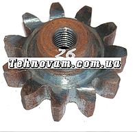 Шестерня бетономешалки 11 зубов (12*65 h32), резьба