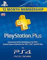Playstation Plus 365 дней UK