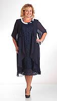 Платье Pretty-343 белорусский трикотаж цвета темно-синий|коралл|бордо|бирюза