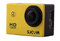 Спортивная экшн камера sjcam sj4000-yellow водонепроницаемый бокс