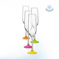 Набор бокалов bohemia для шампанского 190 мл 4 шт. neon frozen (40729\d4896\190)