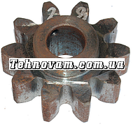 Шестерня бетономешалки 10 зубов (19*64 h29), штифт