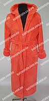 Женский махровый однотонный халат