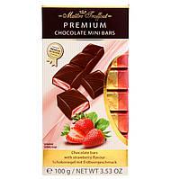 Молочный шоколад с клубничной начинкой Maitre Truffout Premium, 8 х 12,5 г.