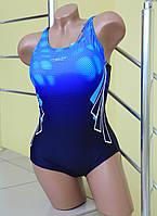 Спортивный купальник Rivageline 8633 голубой с черным код 167Д
