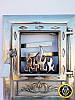 Печная дверца со стеклом Лотос Серебристый, чугунные дверки для печи и барбекю, фото 3