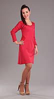 Платье Ива-775 белорусский трикотаж, коралл, 44
