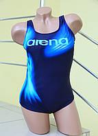 Яркий сдельный купальник Rivageline(Arena) 8955 голубой с синим код 170Д