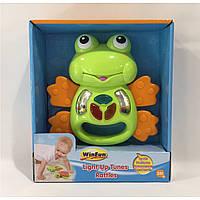 Интерактивная погремушка жабка