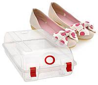 Пластиковые коробки для хранения обуви, жесткий Прозрачный пластик, 1шт - (30х17х10см)
