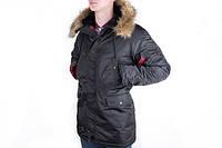 Чоловіча Парка Chameleon - Аляска N-3B, Slim Fit, Black