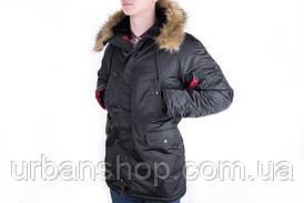 Мужская Парка Chameleon - Аляска N-3B, Slim Fit, Black