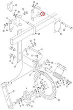 Зажим планки колтера глухой 149-537Dбу