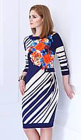 Платье Matini-3963 белорусский трикотаж цвета синие тона