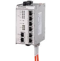 Промышленный коммутатор Microsens MS650919PM (4x10/100/1000T PoE+, 1x100/1000T PoE+ (PD), 2xSFP)