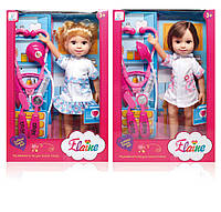 Кукла медсестра 36см с набором доктора, 2 вида