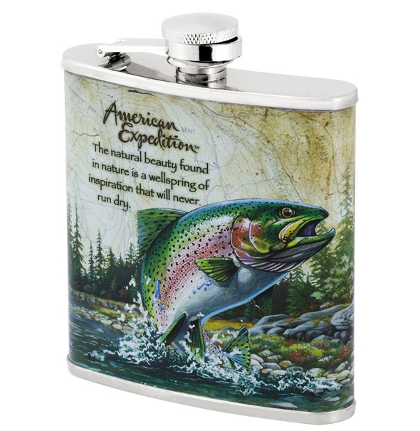 Фляга American expedition Rainbow trout 6 oz (180 мл)