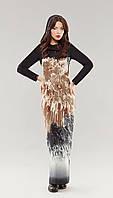 Платье летнее TEFFI style-1141 белорусский трикотаж цвета коричневый+кристалл