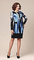 Платье TEFFI style-1149 белорусский трикотаж цвета черно-голубой