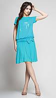 Платье красивое TEFFI style-1146/3 белорусский трикотаж цвета светлая бирюза
