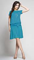Платье TEFFI style-1146/4 белорусский трикотаж цвета темная бирюза