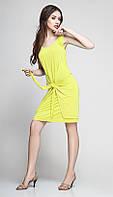 Платье TEFFI style-1172/3 белорусский трикотаж цвета лайм