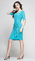 Платье красивое TEFFI style-1173/3 белорусский трикотаж цвета светлая бирюза