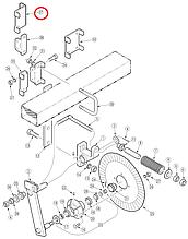 Затискач планки колтера крайній 2SNT 197-005Нбу