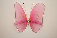 Бабочка декоративная большая 17*17 см ярко-розовые грезы
