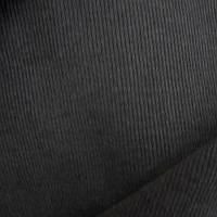 Трикотажное полотно кашкорсе (рибана 2х2) хб/эл, пенье 30/2, антрацит