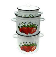 Клубника Набор посуды 6 предметов емаль Epos