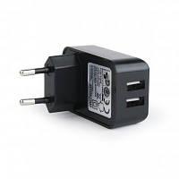 Сетевое зарядное устройство EnerGenie EG-U2C2A-01 Black 2.1A (два USB порта)