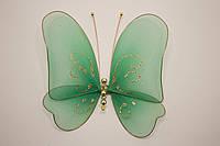 Бабочка декоративная большая 17*17 см зеленая лужайка
