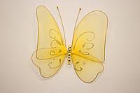 Бабочка декоративная большая 17*17 см желтая листва