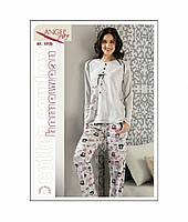 Пижама женская кофта и брюки  Вискоза Angels Story 10135