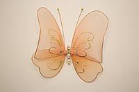 Бабочка декоративная большая 17*17 см бежевая нежость