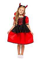 """Детский карнавальный костюм для девочки"""" Дьяволица, Вампирша"""""""