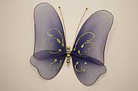 Бабочка декоративная большая 17*17 синяя ночь
