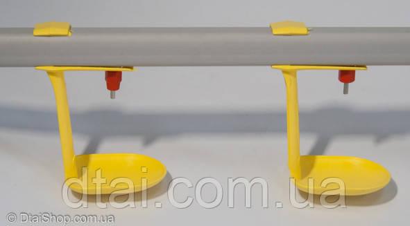 """Пластиковая труба для ниппельного поения 22×22 """"квадрат"""""""