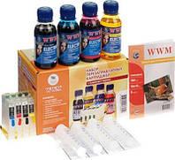 НПК WWM Epson Stylus C91, CX4300, T26/27, TX106/109/117/119, с АО чипами, 4x100 г чернил ELECTRA (RC