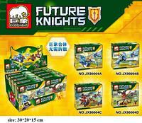Конструктор ELEPHANT FUTURE Knights 4вида, 70-75дет., JX90004
