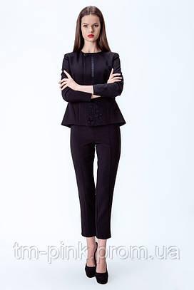 Костюмні штани чорного кольору Етно