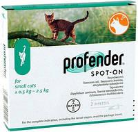 Профендер Bayer антигельминтик для кошек весом 0,5 – 2,5 кг