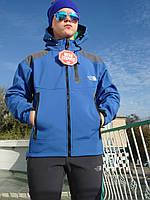 Лыжная спортивная мембранная термокуртка Windstopper The Norht Face сезон зима синяя ветронепродуваемая